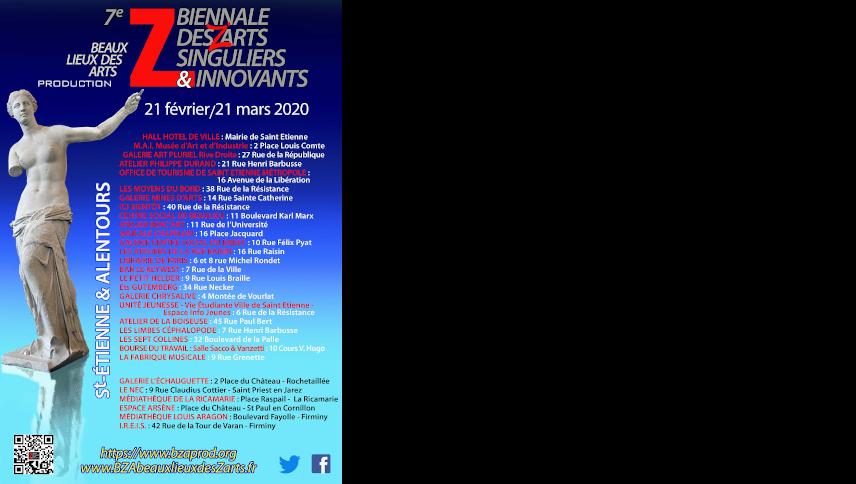 Affiche 7ème Biennale des Arts Singuliers et Innovants
