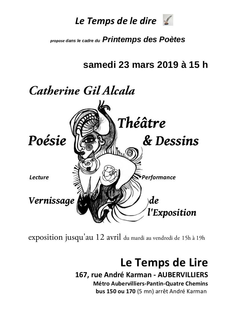 catherine gil alcala exposition Le Temps de Lire Aubervilliers mars 2019