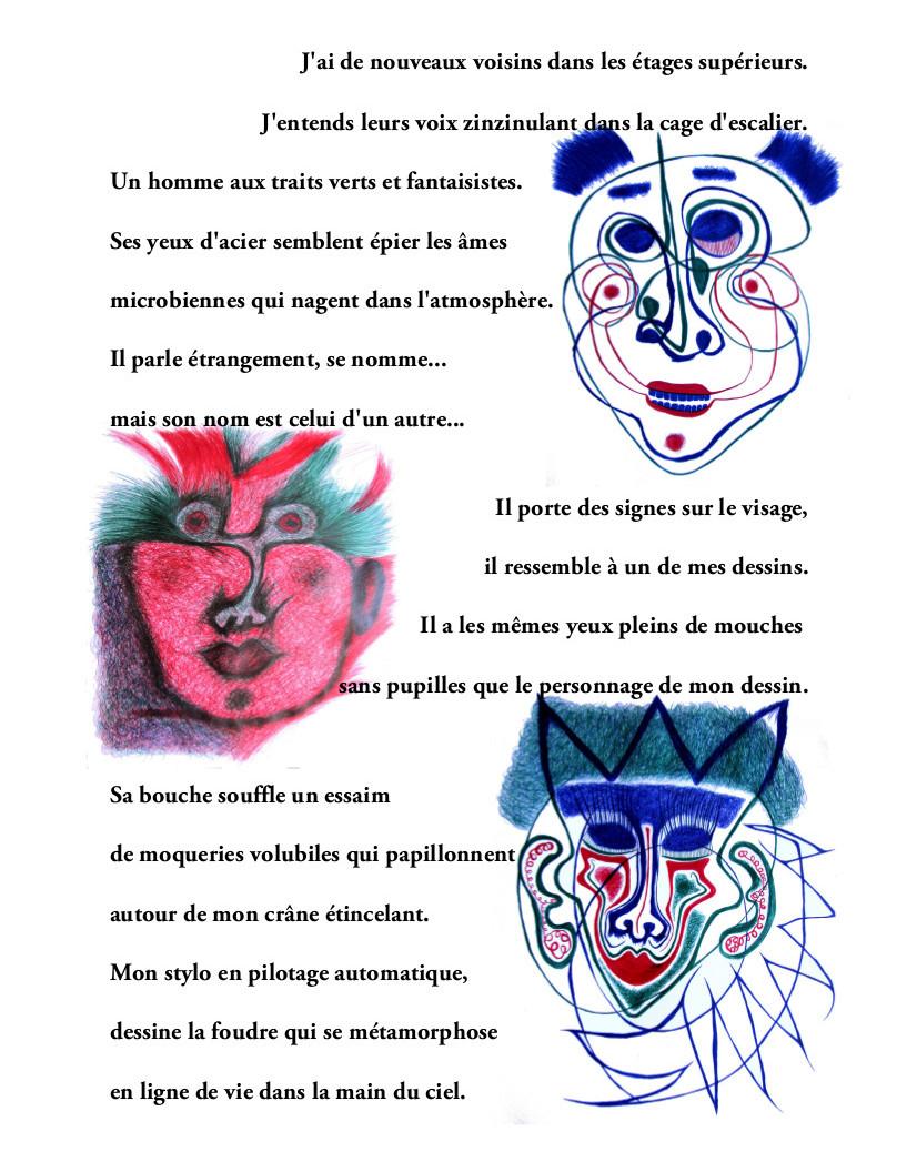 Exposition Catherine Gil Alcala théâtre poésie dessins